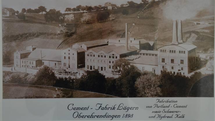 So hat die Ober-Ehrendinger Zementfabrik ausgesehen.
