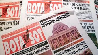 """""""Bota sot"""": Auf der Redaktion der kosovo-albanischen Zeitung traf 2002 eine Paketbombe ein. Nur durch Zufall explodierte sie nicht. (Archivbild)"""