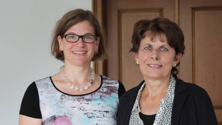 Die beiden SP-Kandidatinnen Jolanda Urech und Franziska Graf sind bereit für die Wahlen in Aarau.