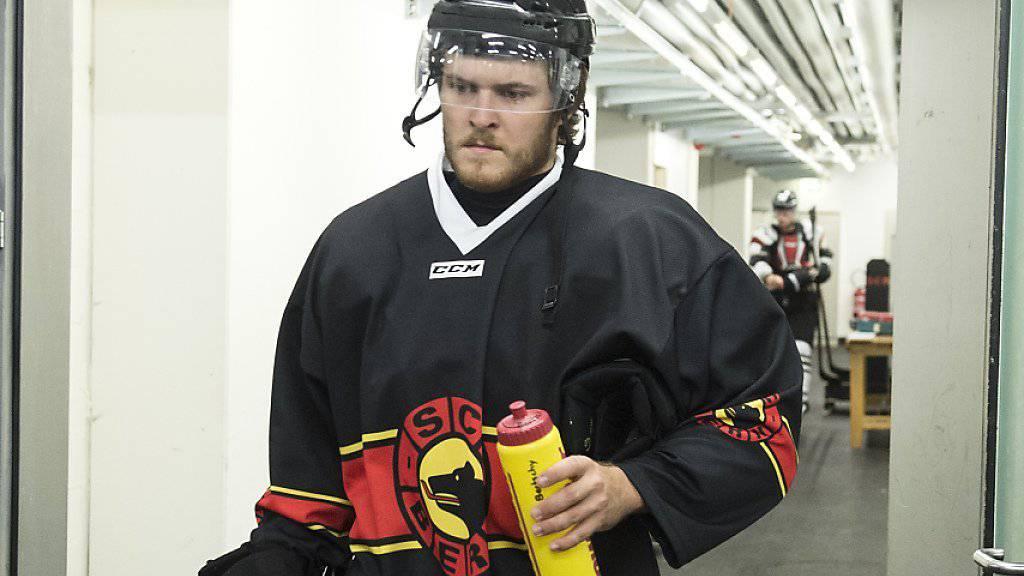 Christoph Bertschy trainierte im August noch mit Bern und steht nun vor dem NHL-Debüt bei Minnesota