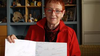 Rita Staubli hat eine Liste von über 30 Oberlunkhofer Zunamen zusammengestellt und auf eine Ortskarte übertragen.  aw/archiv