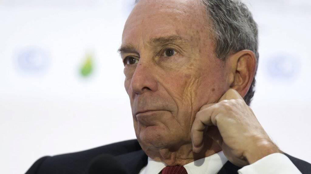 Der frühere New Yorker Bürgermeister und Milliardär Michael Bloomberg erwägt in das US-Präsidentschaftsrennen einzusteigen. (Archiv)