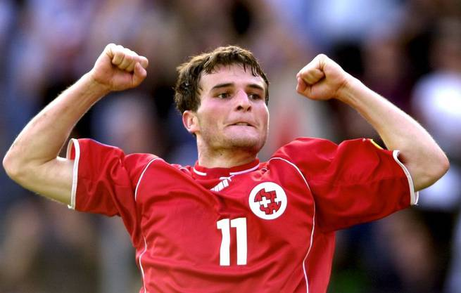 Mit der U21 schafft es Alex Frei 2002 bis ins Halbfinale der EM.