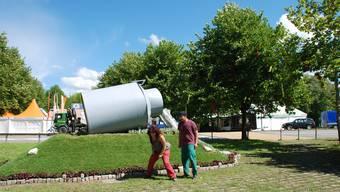 Am Eidgenössischen Schwingfest 2007 in Aarau schmückte die Gartenbauschule das ganze Festgelände.