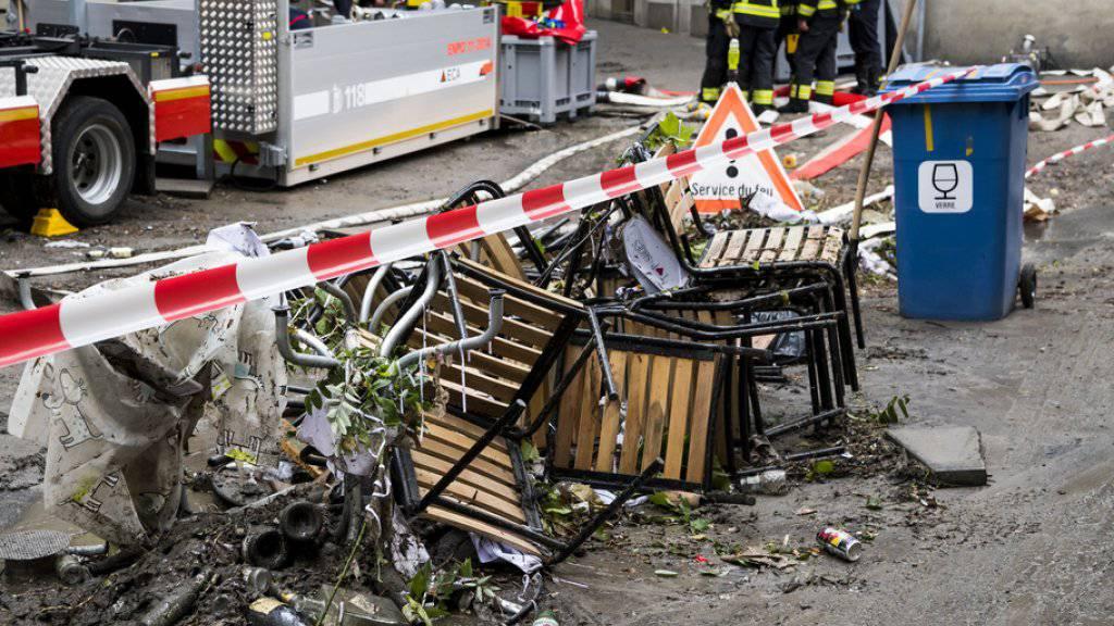 Rekordregen in Lausanne hält Einsatzkräfte auf Trab