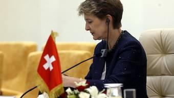 Bundesrätin Simonetta Sommaruga an der Flüchtlings-Konferenz in Tunis.