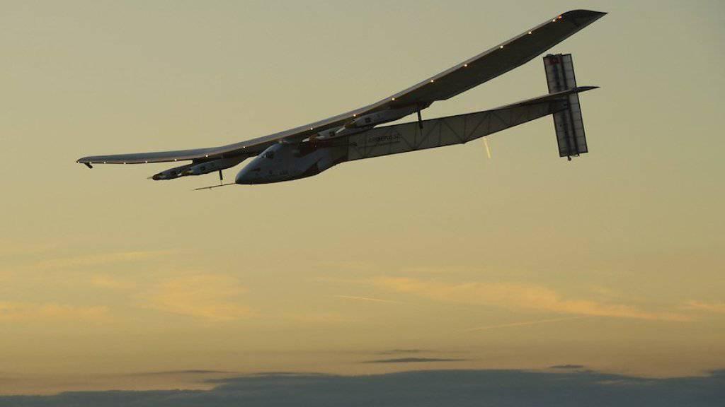 "Das sonnenbetriebene Leichtflugzeug ""Solar Impulse 2""."