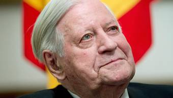 Alt-Kanzler Helmut Schmidt letztes Jahr an seinem 95. Geburtstag