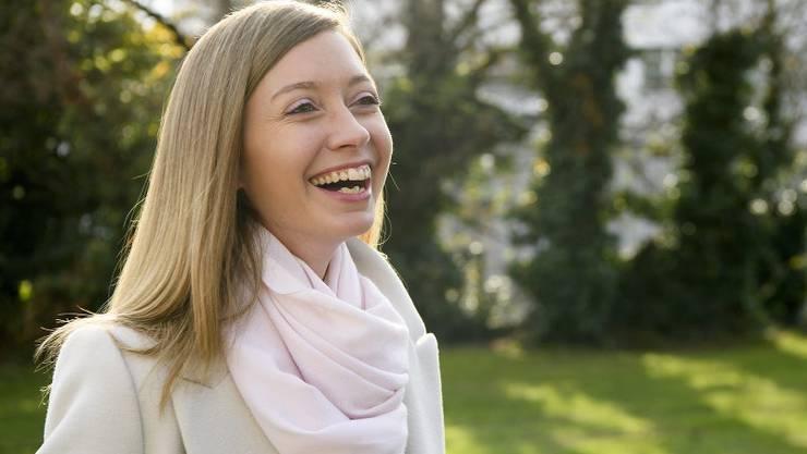 Siegte in der zweiten Runde: Johanna Gapany, FDP. (KEYSTONE/Anthony Anex)