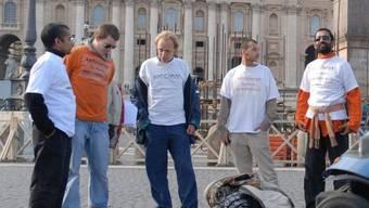 Fundamentalist Titus Leo Panakal (rechts) bei einer Demonstration