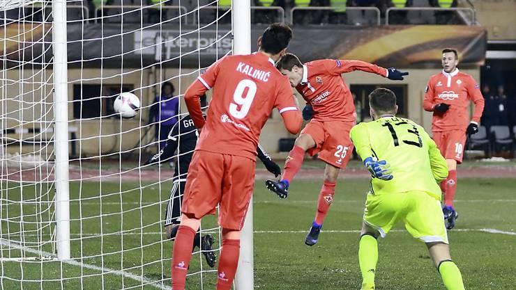 Federico Chiesa schoss für die Fiorentina den Siegtreffer beim Gastspiel in Baku gegen Karabach Agdam