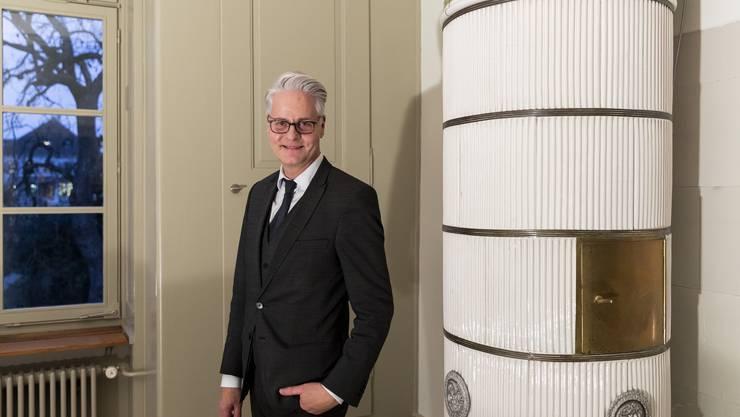 Elf Jahre lang hat Reto Nussbaumer darauf gewartet, mit der Kantonalen Denkmalpflege ins Säulenhaus einziehen zu dürfen.