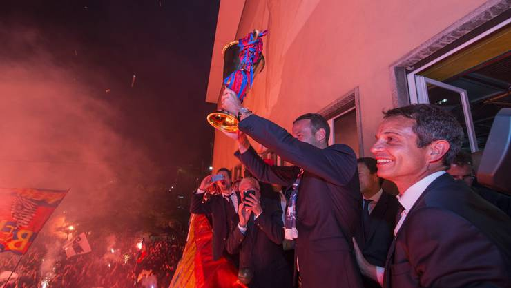 Der FCB feiert seine Meistertitel traditionell auf dem Barfüsserplatz.