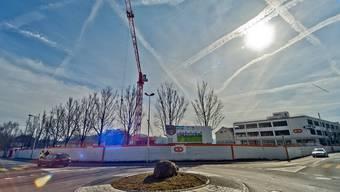Bei Bauarbeiten auf dem ehemaligen Hero Areal in Lenzburg hat es eine Gasleitung erwischt. (Archiv)
