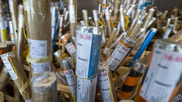 Diese Raketen werden am kommenden Samstag den Genfer Nachthimmel erleuchten.