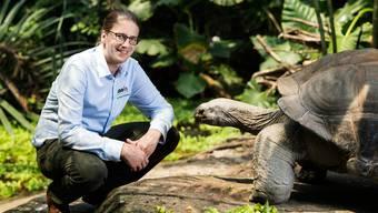 Zoodirektor Severin Dressen in der Masoala-Regenwaldhalle.