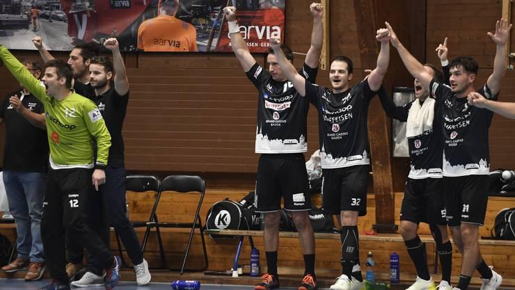 Der STV Baden gewinnt das Aargauer Derby knapp mit 28:27 (12:14) gegen den TV Möhlin.