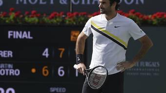 Roger Federer kann auch die knappe Finalniederlage nicht frustrieren
