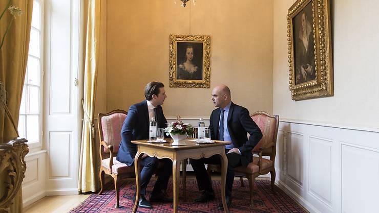 Besprochen wurden auch die Verhandlungen zwischen der Schweiz und der EU über ein Rahmenabkommen. (KEYSTONE/Peter Klaunzer)