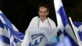 Der nächste Premier? Oppositionsführer Kyriakos Mitsotakis bei einer Wahlkampfveranstaltung in Athen.