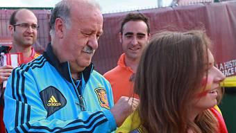 Vicente Del Bosques Unterschrift ist heiss begehrt.