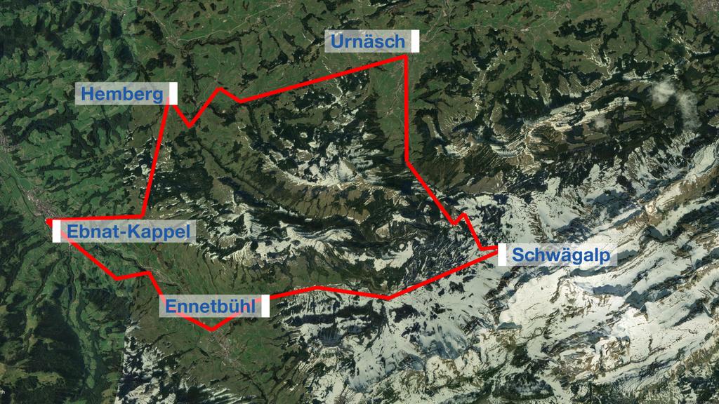 Die Plauschrundfahrt ist etwa 55 Kilometer lang.
