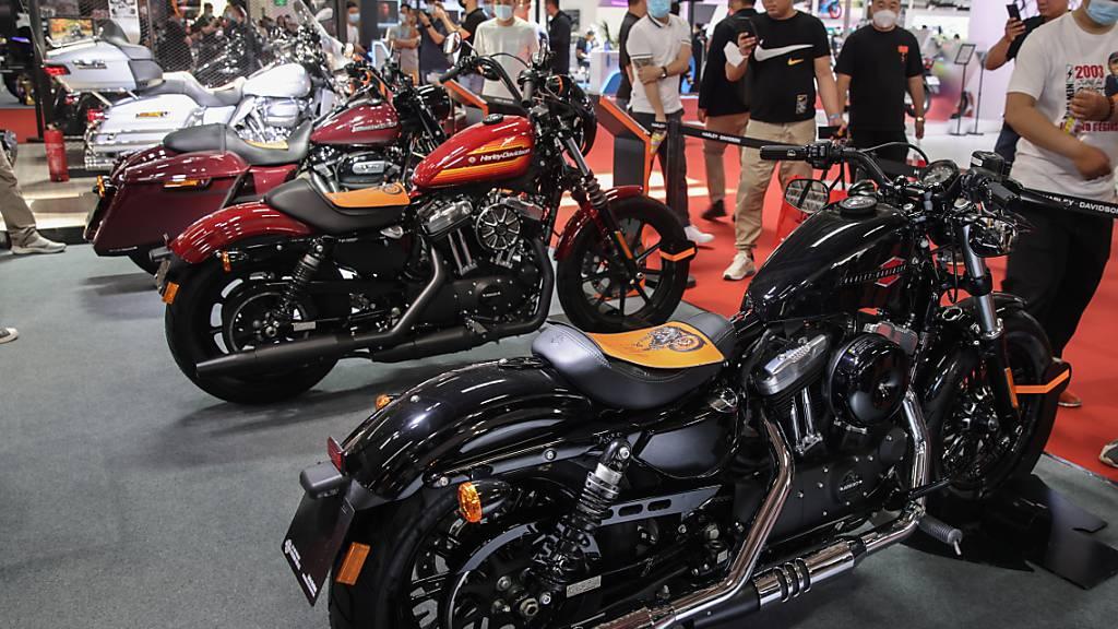 Harley-Davidson-Bikes finden reissenden Absatz