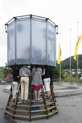 Jeder Zuschauer hat seinen Platz im Wasserturm