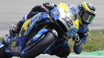 Tom Lüthi musste sich auch am ersten Trainingstag in Brünn mit einer Position im hintersten MotoGP-Ranglistenviertel begnügen