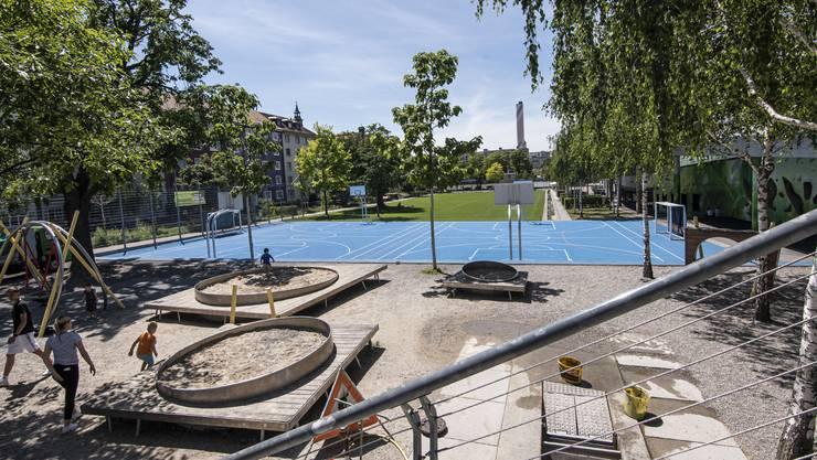 Die Dreirosen-Anlage in Basel: Spielplatz, Sportplatz und Park in einem – und eine Konfliktzone mit Gewaltpotenzial.