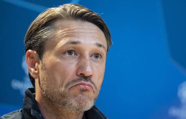 Langes Gesicht bei Niko Kovac: Er ist ab sofort nicht mehr Trainer beim FC Bayern München