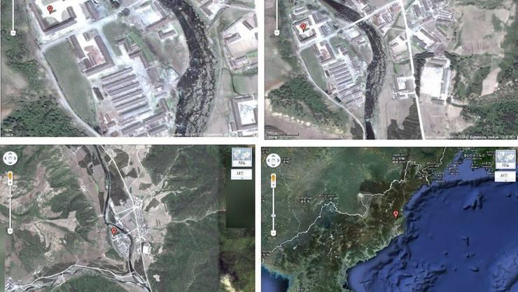 Satellitenbilder des Straflagers No 16 in Hwasong in Nordkorea