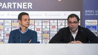 Bernhard Heusler (l.) und Georg Heitz werden den FCB verlassen.