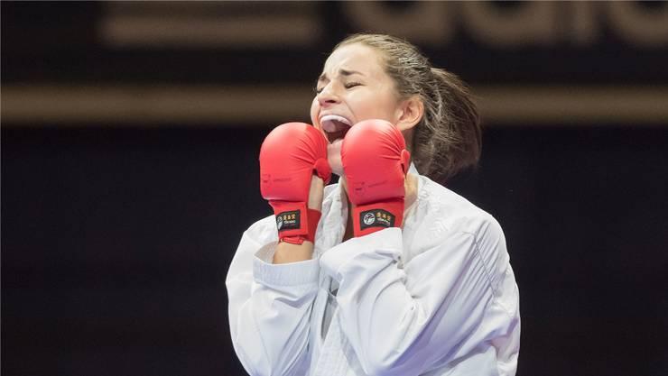 Elena Quirici darf sich über ihren dritten Platz freuen - und vielleicht auch bald über einen Platz für Tokyo 2020.