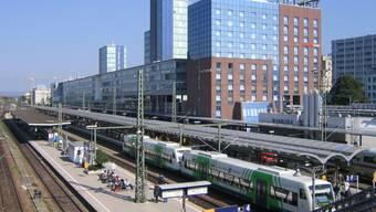 Ausnahmezustand am Hauptbahnhof in Freiburg.
