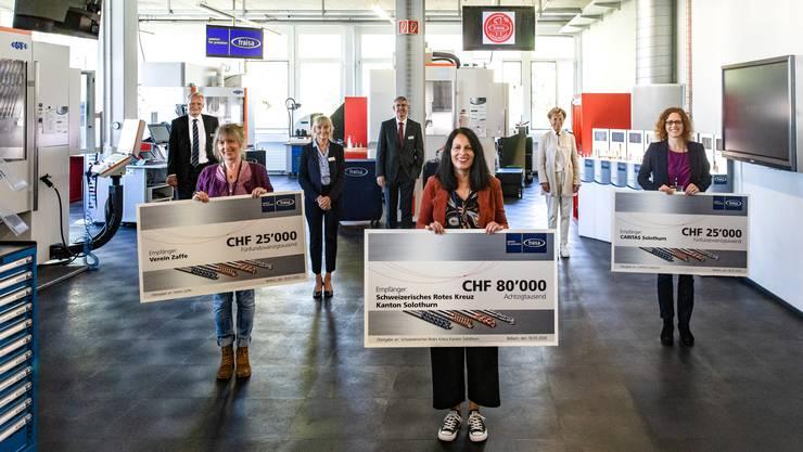 1. Platz: Schweizerisches Rotes Kreuz Kt. SO, Luzia Stocker; 2. Platz Verein Zaffe, Christina Roters; CARITAS Solothurn, Fabienne Notter.