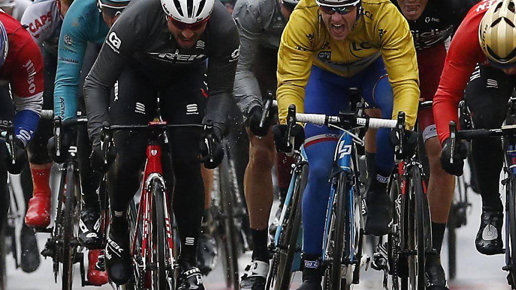 Aussenseiter gewann den Sprint der 3. Etappe - Arnaud Démare (in gelb) bleibt Leader