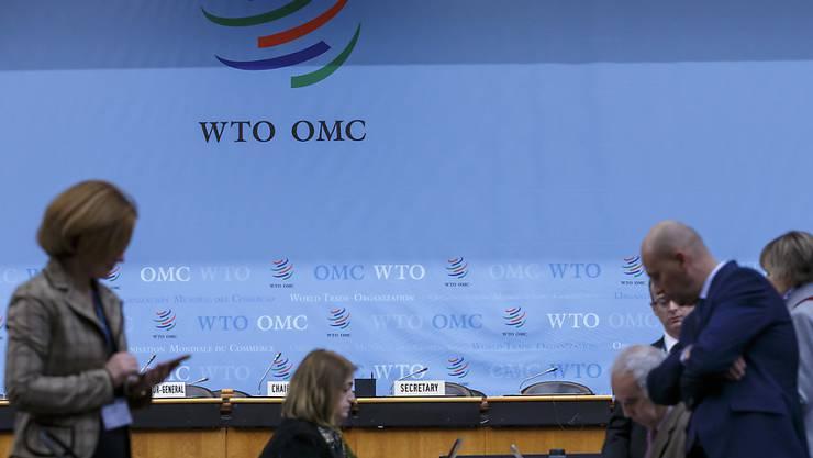 Delegierte der Generalversammlung der Welthandelsorganisation WTO am Hauptsitz in Genf.
