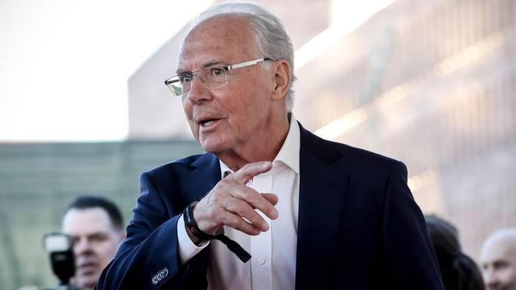 Franz Beckenbauer im April 2019 bei seiner Ankunft in der ‹Hall Of Fame› des deutschen Fussballs in Dortmund.