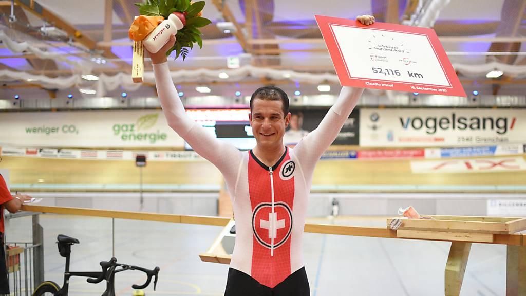Schweizer Stundenrekord von Claudio Imhof