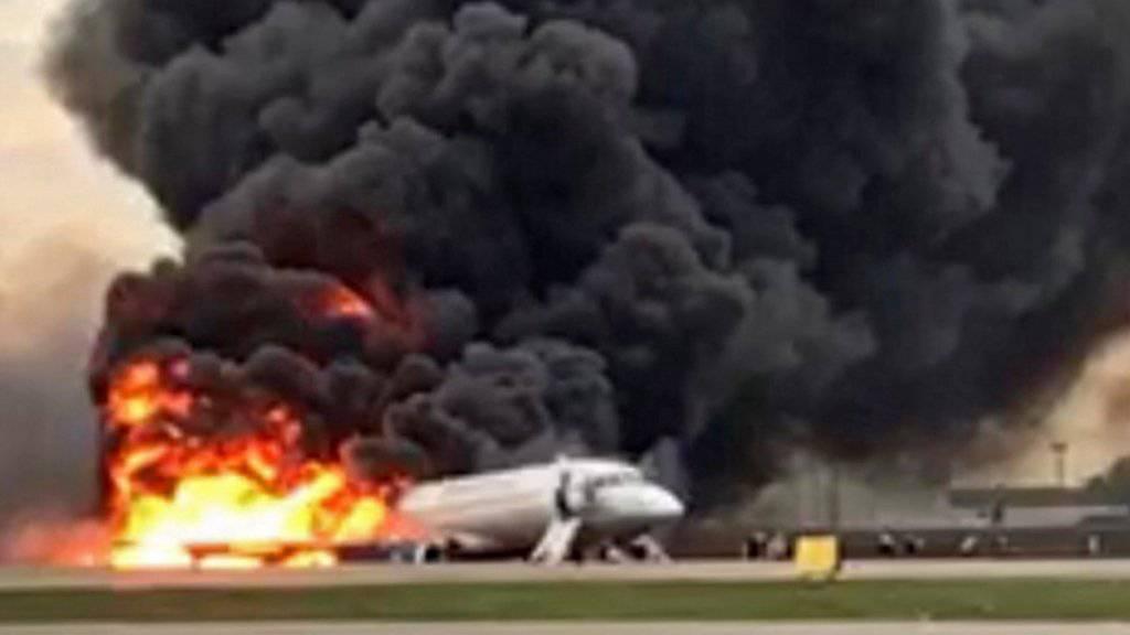 Die Behörden Russlands gehen derzeit der Ursache für das Flugzeugunglück von Moskau am Sonntag nach.