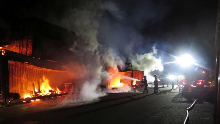 Der Brand verursachte erheblichen Sachschaden.
