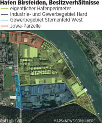 Die Besitzverhältnisse am Hafen Birsfelden