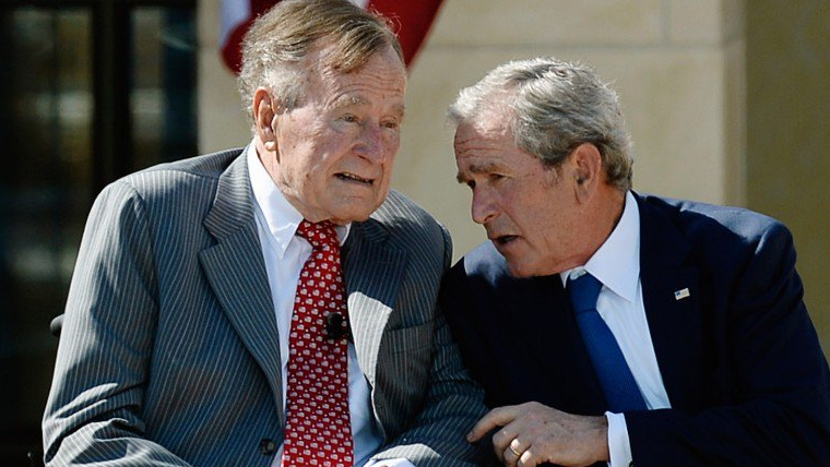 Die Bushs halten nichts von Trump