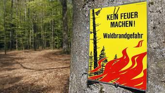 Im Kanton Baselland gilt absolutes Feuerverbot im Wald und in Waldesnähe.