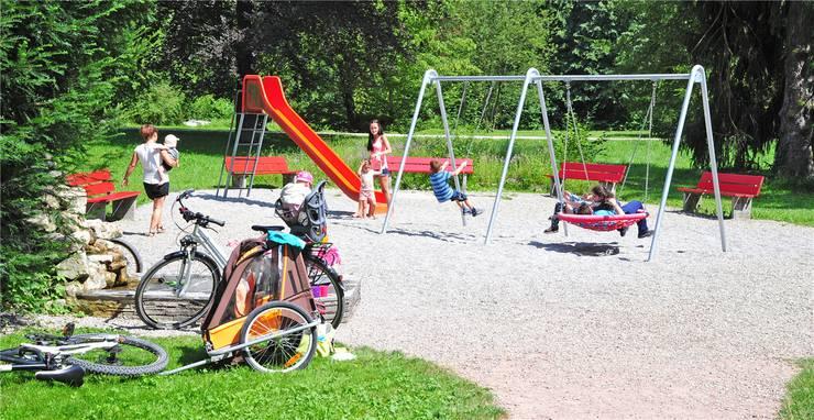 Ein familienfreundliches Element im Bally-Park: Der Kinderspielplatz. Remo Fröhlicher