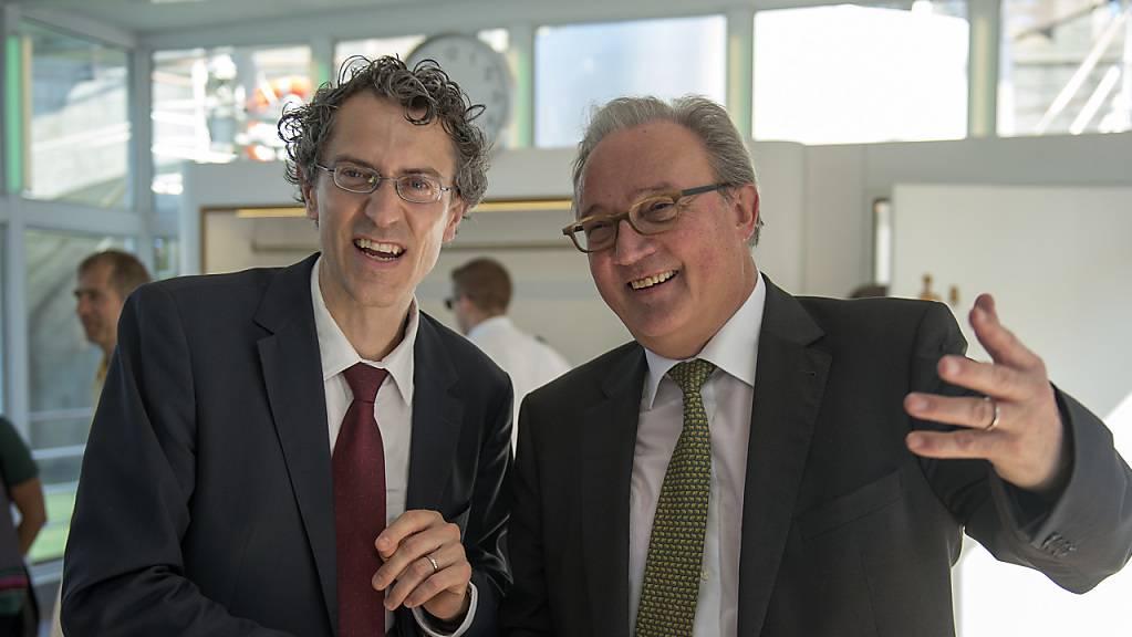 Marcel Tanner (rechts), Mitglied der Swiss National Covid-19 Science Taskforce, ist überzeugt, dass es keine zweite Coronawelle geben wird. (Archivbild)