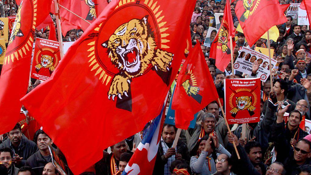 Die tamilische Rebellenorganisation Tamil Tigers (LTTE) hat nicht nur Anhänger - gegen 13 Personen aus dem Umfeld der LTTE hat die Bundesanwaltschaft Anklage eingereicht. (Archivbild)