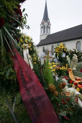 Blumen auf dem Friedhof von Schönenwerd