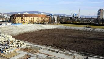 Hier soll das neue Stadion entstehen: Die Überresten des ehemaligen Hardturmstadions (Archiv)